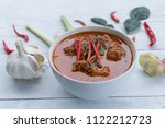 thai traditional homemade.spicy ... | Shutterstock . vector #1122212723