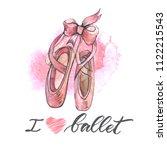 illustration  hand drawn  pair... | Shutterstock . vector #1122215543