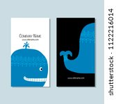 blue whale  business cards... | Shutterstock .eps vector #1122216014