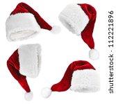 collection of christmas santa... | Shutterstock . vector #112221896