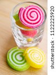 fruit jelly roll. made with... | Shutterstock . vector #1122225920