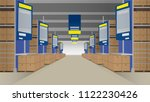 wholesale with rows of shelves... | Shutterstock .eps vector #1122230426