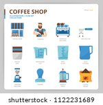 coffee icon set | Shutterstock .eps vector #1122231689