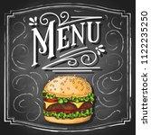 menu vintage hand lettering... | Shutterstock .eps vector #1122235250