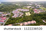 aerial view of the kampung... | Shutterstock . vector #1122238520