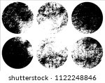 set of grunge textures in black ... | Shutterstock .eps vector #1122248846