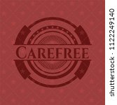 carefree badge with red... | Shutterstock .eps vector #1122249140