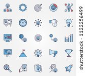 startup colored icons set  ... | Shutterstock .eps vector #1122256499