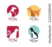 pet shop  pet house  pet care... | Shutterstock .eps vector #1122258443