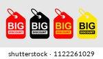 big discount banner. sale... | Shutterstock .eps vector #1122261029