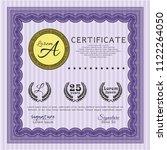 violet diploma. excellent... | Shutterstock .eps vector #1122264050