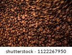 coffee bean roasted texture...   Shutterstock . vector #1122267950