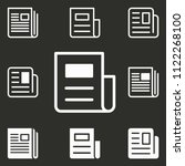 vector news icon  newspaper... | Shutterstock .eps vector #1122268100