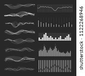 vector music sound waves set.... | Shutterstock .eps vector #1122268946