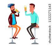 friends drink beer. male... | Shutterstock .eps vector #1122271163