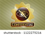 gold shiny badge with blind... | Shutterstock .eps vector #1122275216
