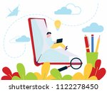 education concept of online... | Shutterstock .eps vector #1122278450