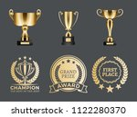 champion prizes collection ... | Shutterstock .eps vector #1122280370