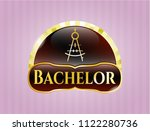 gold badge with drawing... | Shutterstock .eps vector #1122280736