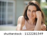 portrait of attractive 40 year... | Shutterstock . vector #1122281549