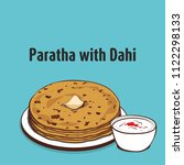 indian traditional food paratha | Shutterstock .eps vector #1122298133
