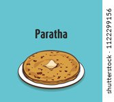 indian traditional food paratha | Shutterstock .eps vector #1122299156
