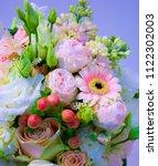 bouquet of flowers roses... | Shutterstock . vector #1122302003