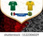 match playoffs. game between... | Shutterstock .eps vector #1122306029
