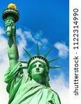statue of liberty  liberty... | Shutterstock . vector #1122314990