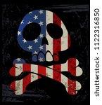 skull t shirt graphic design... | Shutterstock .eps vector #1122316850