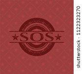 sos red emblem. vintage. | Shutterstock .eps vector #1122323270