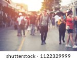 abstract blurred crowd people...   Shutterstock . vector #1122329999