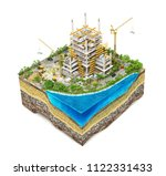 construction concept. building... | Shutterstock . vector #1122331433