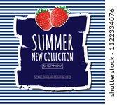 summer new collection banner... | Shutterstock .eps vector #1122334076