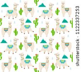 vector seamless pattern with... | Shutterstock .eps vector #1122337253
