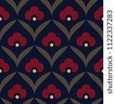 folk flowers pattern oriental... | Shutterstock . vector #1122337283