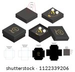 rigid box for necklace ring...   Shutterstock .eps vector #1122339206