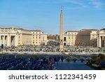 obelisk of the vatican... | Shutterstock . vector #1122341459