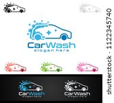 car wash logo  cleaning car ... | Shutterstock .eps vector #1122345740