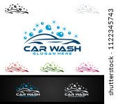 car wash logo  cleaning car ... | Shutterstock .eps vector #1122345743