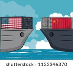 trade war concept | Shutterstock .eps vector #1122346370