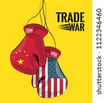 trade war concept | Shutterstock .eps vector #1122346460