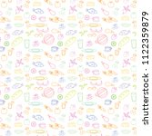 seamless doodle texture with... | Shutterstock .eps vector #1122359879