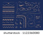 set of vector graphic elements... | Shutterstock .eps vector #1122360080