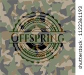offspring on camo pattern | Shutterstock .eps vector #1122361193