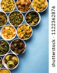 indian sabzi   vegetable fried... | Shutterstock . vector #1122362876