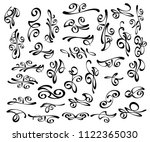 set of decorative elements.... | Shutterstock .eps vector #1122365030