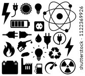 electricity icon set. black ... | Shutterstock .eps vector #1122369926