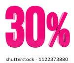 pink 30  percent discount sign  ... | Shutterstock . vector #1122373880