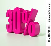 pink 30  percent discount sign  ... | Shutterstock . vector #1122373886
